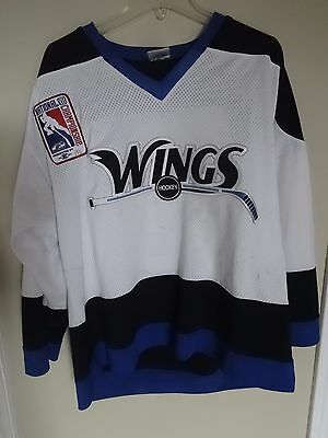 "Fan Apparel & Souvenirs United Vtg Game Used ""wings"" Slater #5 2010 Usa Hockey Championship Jersey Men L By Vkm Spare No Cost At Any Cost Sports Mem, Cards & Fan Shop"