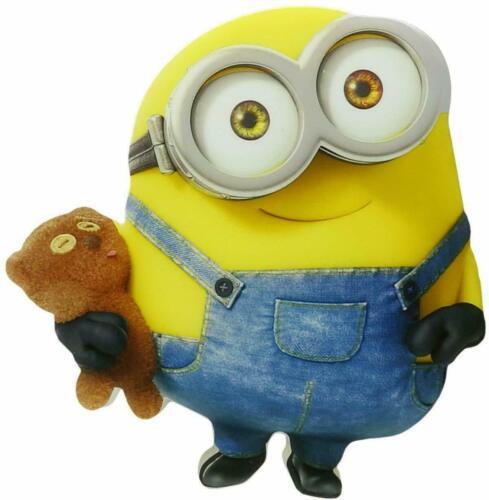 Minions Bob 3D Deco Light New Holding Teddy Bear Mini Wall Push On Despicable Me