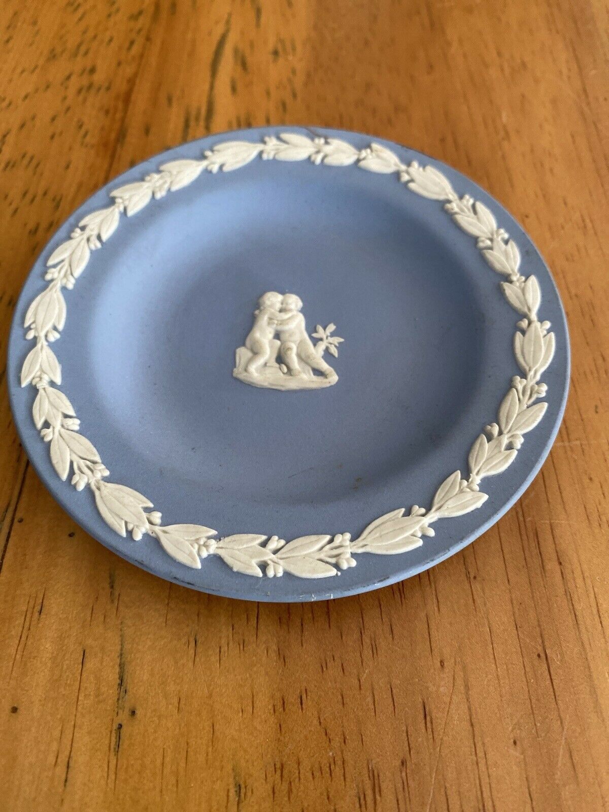 Image 1 - Wedgwood  Blue Jasperware Pin Dish Cherubs
