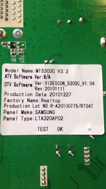 Mt5303c V3 2 1100047921 Main AV Board From Videocon 32 LCD TV Vu326ld