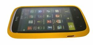 HTC-silicio-caso-di-HTC-Arancione-Desire-C