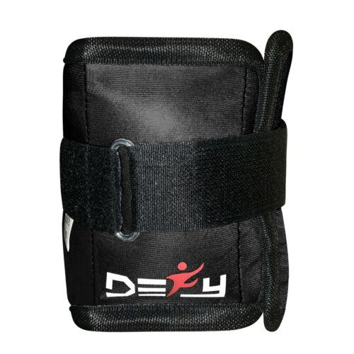DEFY New Ankle Weights Adjustable Leg Running Wrist Arm Gym Exercise 1KG Black