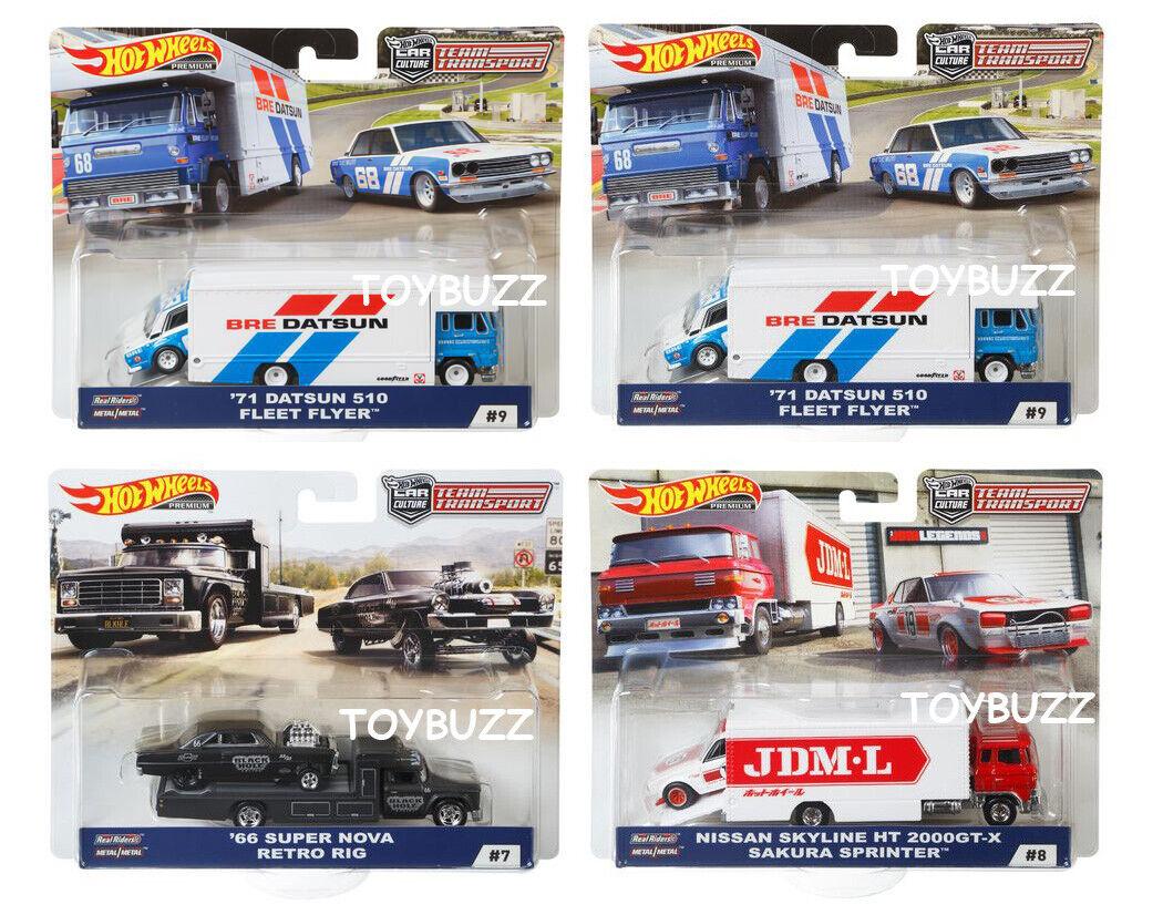 Hot Wheels 1 64 2018 voiture culture équipe de transport C CASE DATSUN 510 FLF56-956C