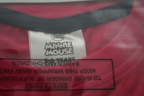 8 anni 18 mesi DISNEY Minnie Mouse Rosa a Maniche Corte T-shirt//Top-Nuovo con etichette