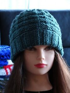 20a87ec8da535 Hand Knitted Beanie Womens Mens Hand Made Warm Hat for the Winter