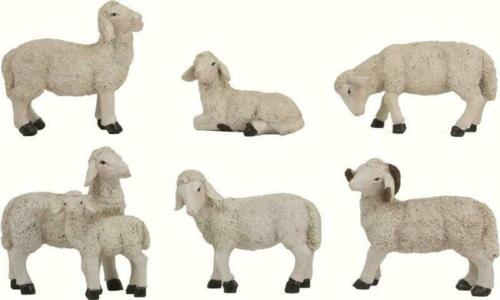 Krippenfiguren Tiere Schafe Schafherde 5 teilig für Figuren ca.15-18 cm