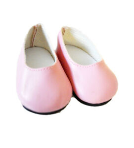 Pink-Matte-Flats-for-Wellie-Wisher-Dolls-14-5-Inch-Doll-Shoes