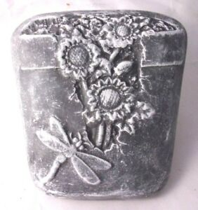 """Dragonfly plaque mold plaster concrete stepping stone plastic mould 8/"""" x 7/"""" x 1/"""""""