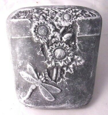 Plastic dragonfly plaque mold plaster concrete  garden mould