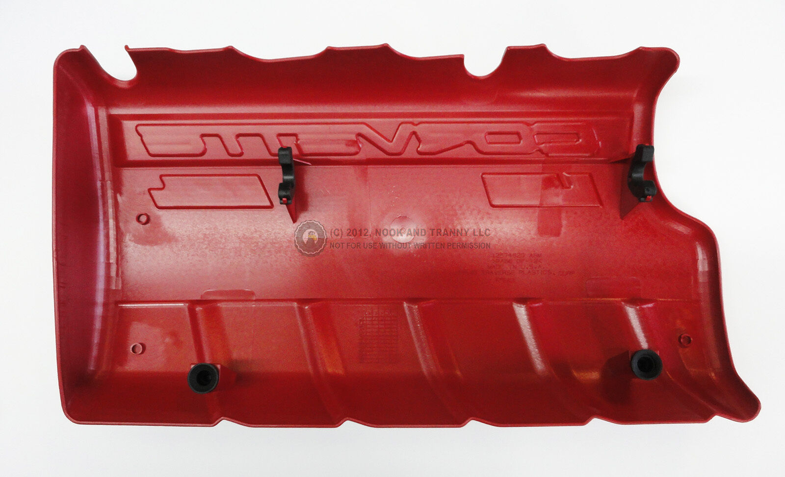 08-11 6.2L LS3 Corvette Fuel Rail Engine Covers LH RH BLACK WET SUMP w// STUDS