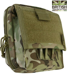 Combat Special Ops Map Case Travel Bag MTP BTP Camo Army Military Cadet Molle