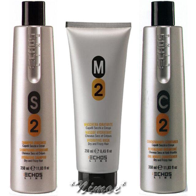 Hydrating Kit Echos Line ®S2 M2 C2 Shampoo 350ml + Mask 250ml + Conditioner 250m