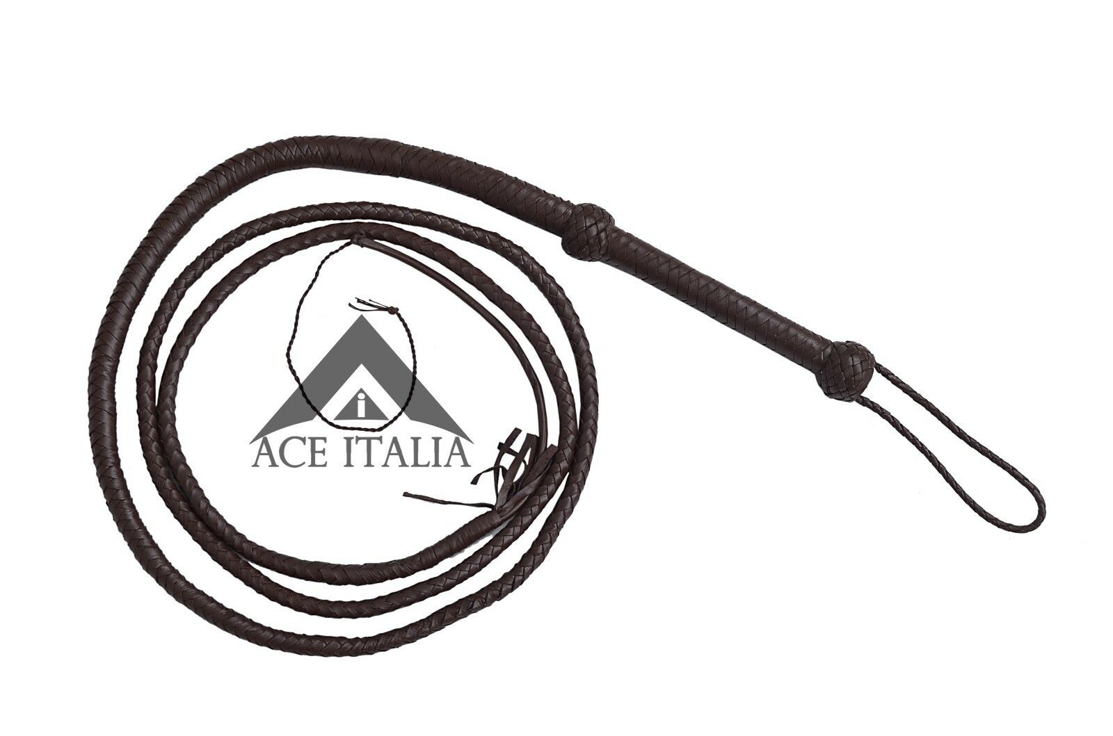 Bull Whip Hunter Dark Brown Indiana Jones Movie Inspired 100% Real Leather