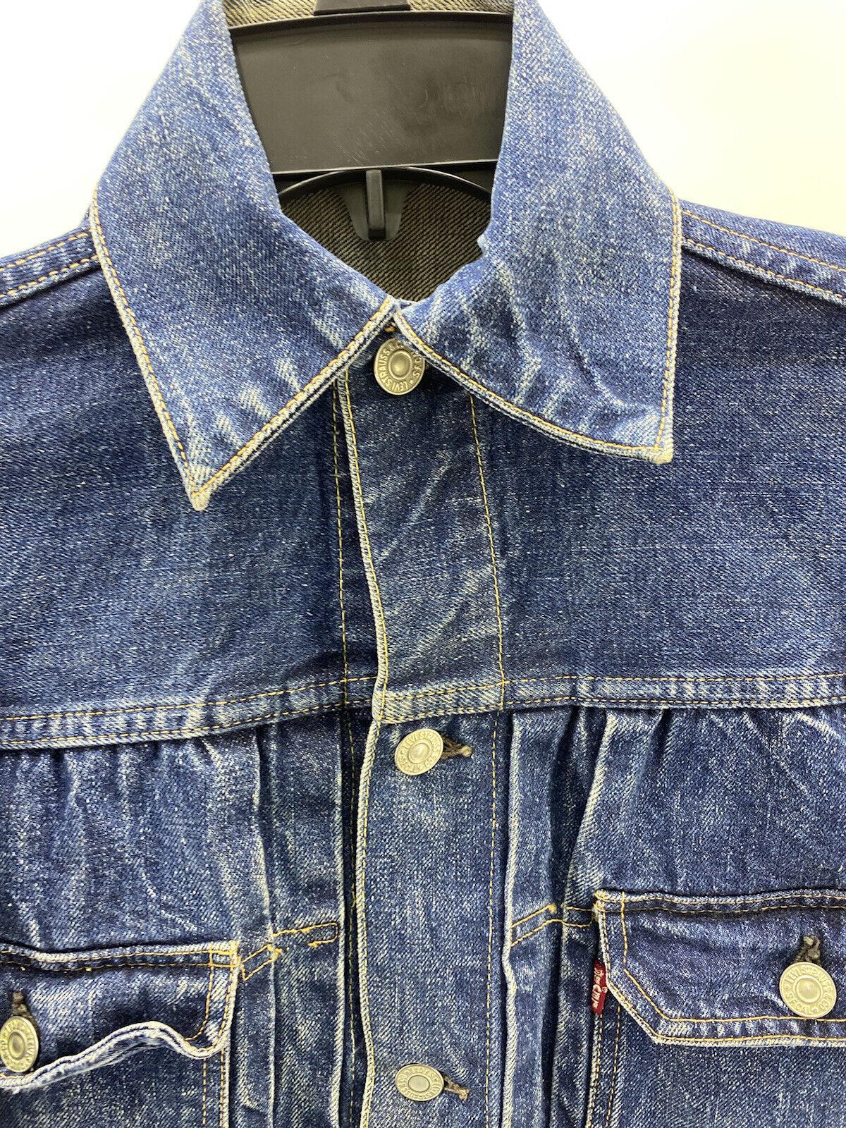 vtg levis type 2 1950's denim jacket Big E Origin… - image 10