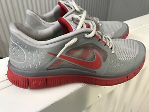 new concept e51fa b2513 Details about Nike Free Run +3 grey red men size 8.5 nike free 5.0 v3  classic running shoes.