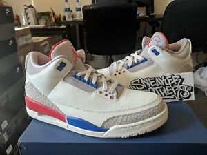 popular brand factory price classic shoes Details about Nike Air Jordan Retro III 3 International Flight Charity Game  Sail 136064-140