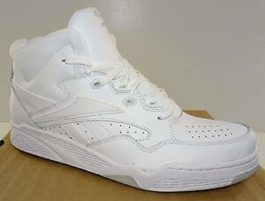 5d89eecc5ebea7 REEBOK BB4600 Mid Men s Basketball Shoes White Leather NWD 6.5 to ...