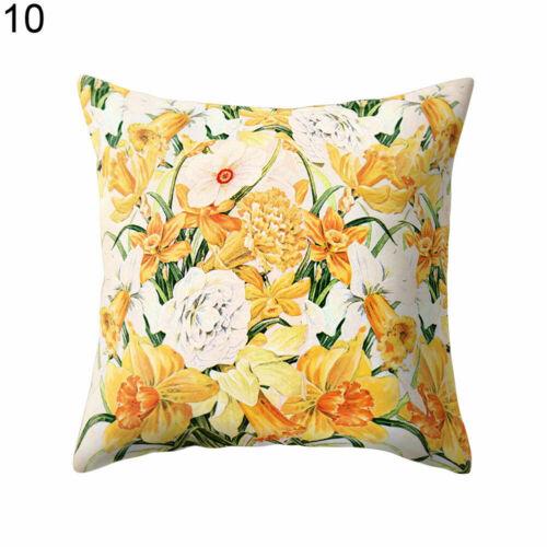 "Floral Pattern Square Throw Pillow Cover Case Cushion Home Sofa Car Decor 18/"""