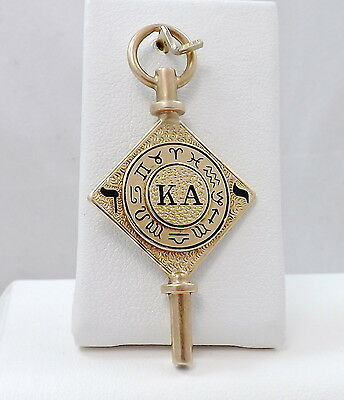Jewelry & Watches Orderly 14k Gold Kappa Alpha Society Members Fraternity Pocket Watch Key Winder Fob 10gr