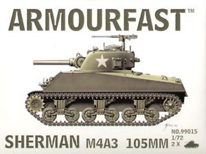 Armourfast 1/72 M4A3 Sherman 105mm # 99015