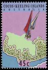 "COCOS ISLANDS 292d (SG314) - Marine Life ""Junkong Boats""  (pa53298)"