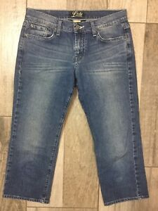 Lucky-Brand-Classic-Rider-Crop-Womens-Capri-Jeans-Size-6-28-Low-Rise-22-Inseam