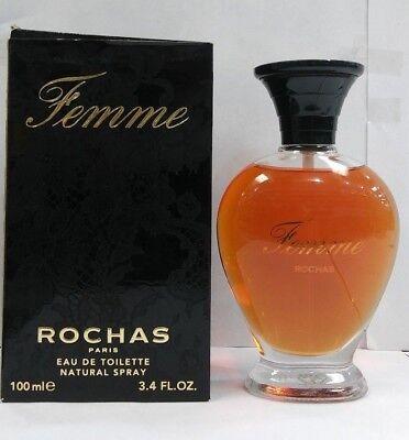 Vintage Rochas Femme Eau de Toilette Spray 3.4 oz. 100 ml NEW IN BOX 3139420000547 | eBay