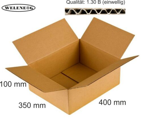 60 Faltkartons 400x350x100mm B-410g//m2  Versandkarton Falt Kartons BRAUN