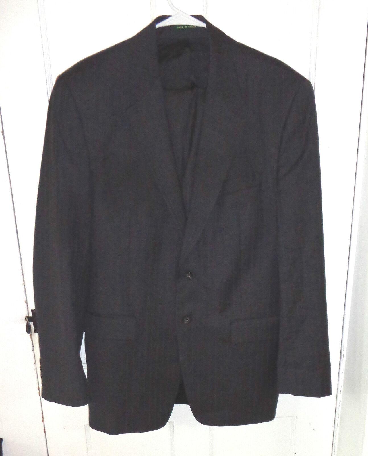 Herren fine pure wool charcoal grau pin stripe suit by Ralph Lauren Größe 44