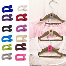 10stk Haken Mini Flock Smart Hangers Antirutsch Clever Raumspar Kleiderbügel