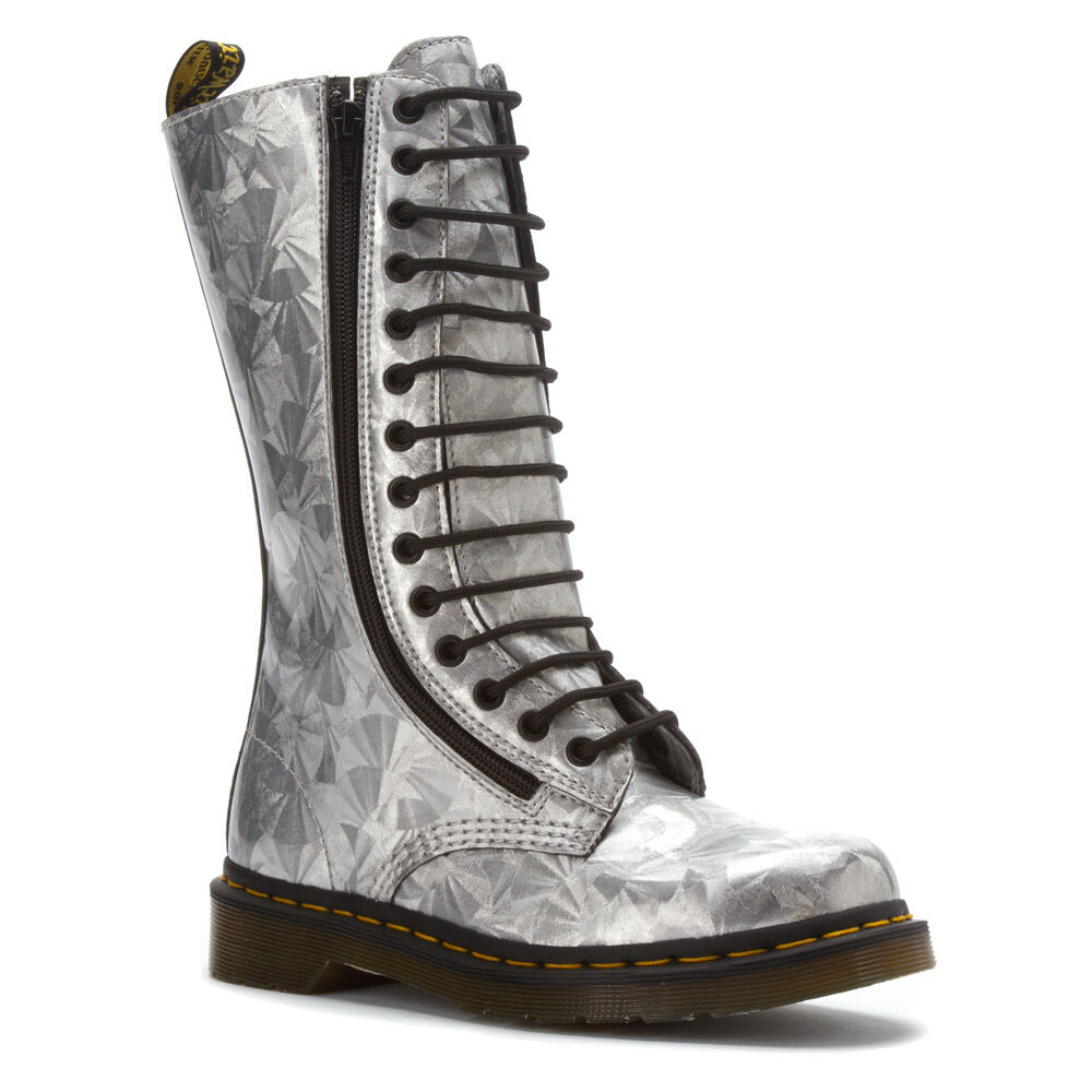 Dr. Martens Women's 9733 2 zip 1B99 Style Silver Jewel US 6  EU 37 UK 4 LAST