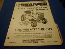 s l225 snapper lt12 & lt16 series 2 lawn tractor illustrated parts list snapper lt16 wiring diagram at soozxer.org
