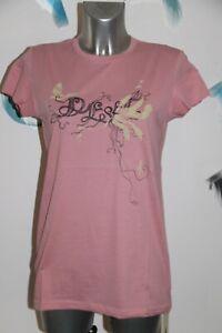 joli tee shirt rose imprimé coton femme DIESEL Taille S neuf