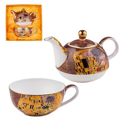 Gustav Klimt The Kiss Set Of Cup And Teapot Porcelain Lancaster Tea For One New Ebay