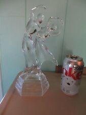 "Vintage Clear GLASS Dancing Couple MAN & WOMAN DANCERS Figurine 10 3/4"""