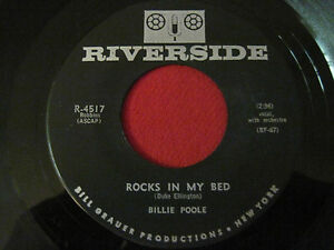 BLUES-R-amp-B-45-BILLIE-POOLE-ROCKS-IN-MY-BED-TIME-AFTER-TIME-RIVERSIDE-4517