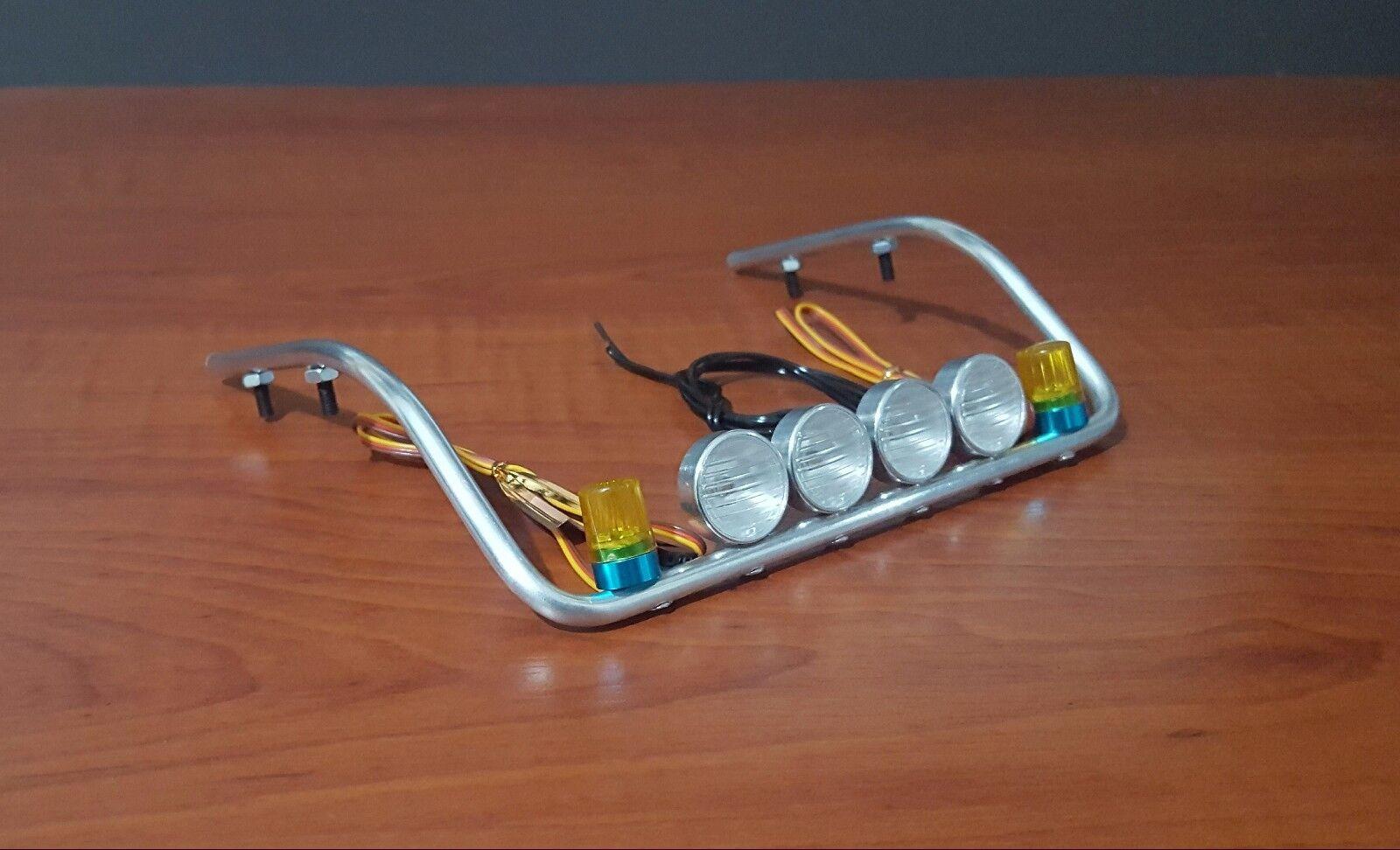 Nuevo 1 14 Tamiya Actros Multi-función intermitente CH3 modo de metal roofbar 4 Luz