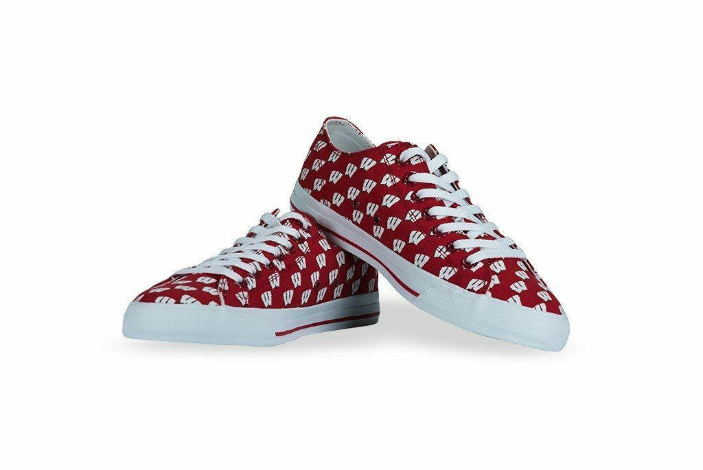 University of Wisconsin Badger NCAA Apparel Row One Men Women Kids Sneakers shoes