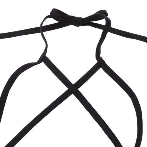 Women Bralette Bra Mesh Net Halter Bustier Lingerie Unlined Wire-free Underwear