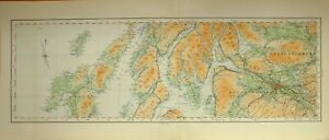 1924-LARGE-SCOTTISH-MAP-STIRLINGSHIRE-GLASGOW-DUMBARTONSHIRE-RENFREWSHIRE