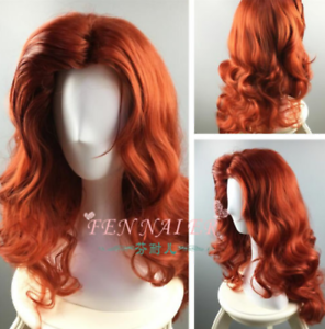 Front To Raise Female Style Curly Copper Red Curly Hair Anime Wigs Of Foreign Ebay