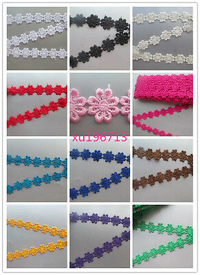 new 1-15 yards net lace ribbon sun painting program 2.5 cm wide 14 color options