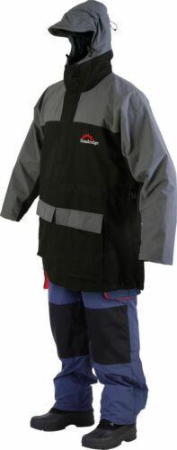 Regenbekleidung SUNDRIDGE MARINE PRO SP JACKE SCHWARZ/GRAU L Modell Nr MPCS-L Angelsport