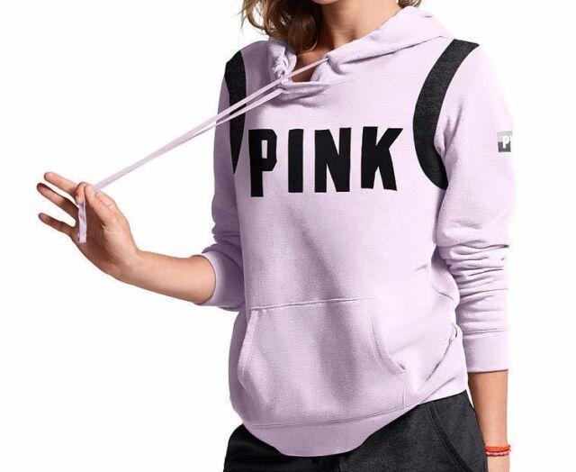 746e50b0d431a S Victoria's Secret Pink Crossover Pullover Hoodie Sweatshirt Lilac Purple