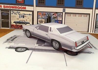 Papercraft 1974 Chevrolet Monte Carlo coupe Paper Model Car EZU-make | eBay