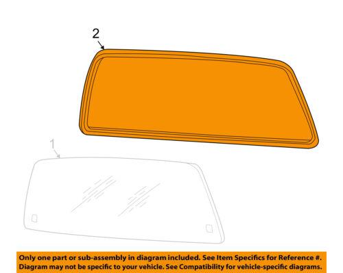 FORD OEM F-250 Super Duty Rear Window Glass-Weatherstrip Seal 1C3Z2542084AA