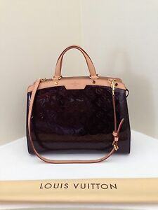 Image Is Loading Louis Vuitton Vintage Amarante Monogram Vernis Leather Brea