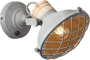 Wandleuchte aus Metall Grau Beton Stil Industriell - Marke brillant - Charo