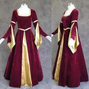 Medieval-Renaissance-Gown-Dress-Costume-LARP-Wedding-3X