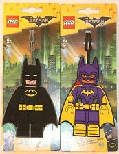 LEGO The Batman Movie BATGIRL & BATMAN minifig ID Backpack Luggage Tag DC Comic